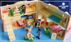 Casa com bonecos