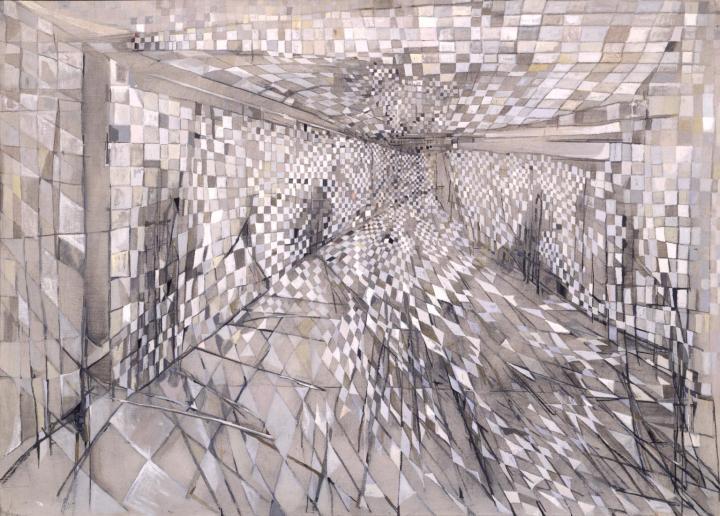 The Corridor 1950 by Maria Helena Vieira da Silva 1908-1992
