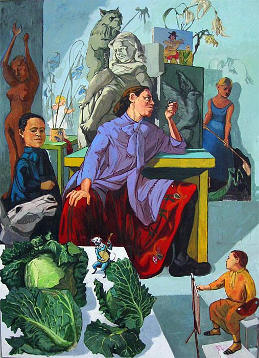 paula-rego-the-artist-in-her-studio-1993