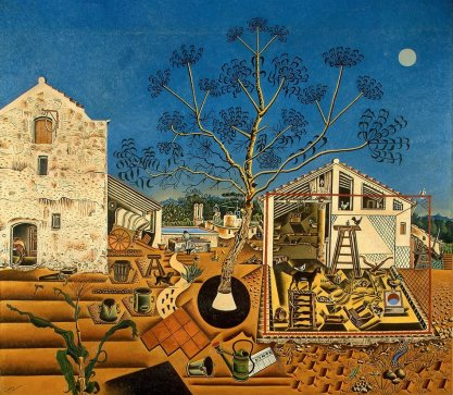 File name: 3275-002.jpg Joan Miró The Farm, 1921-1922 oil on canvas Overall: 123.8 x 141.3 x 3.3 cm (48 3/4 x 55 5/8 x 1 5/16 in.) framed: 138.4 x 155.9 x 7.6 cm (54 1/2 x 61 3/8 x 3 in.) National Gallery of Art, Washington, Gift of Mary Hemingway © 2012 Successió Miró/Artists Rights Society (ARS), New York/ADAGP, Paris