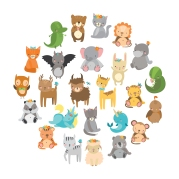 cute vector zoo