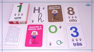 Cartões números e letras